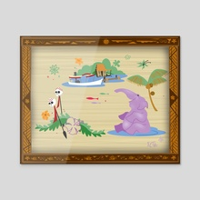 Elephant Bathing Pool - Acrylic by East Coast Tiki