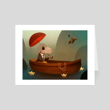 My Little Boat - Art Card by Romain Mennetrier