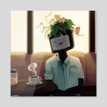 Coffee Shop Chats - Acrylic by Dan Glover