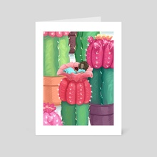 Cactus Thumbelina  - Art Card by Suzi Spooner