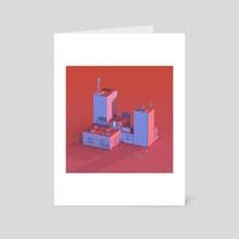 New York 01 - Art Card by Quentin Houyoux