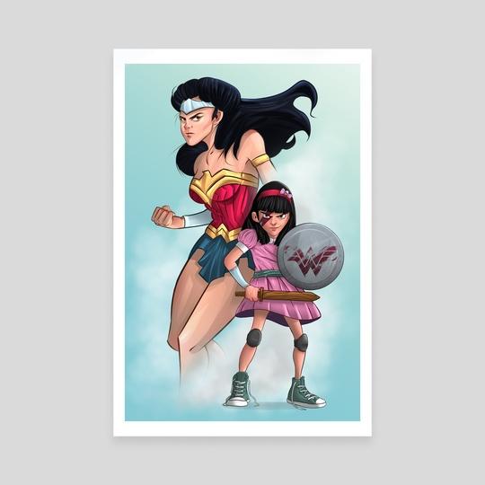 Wonder Woman Tribute by José Sánchez Bustamante