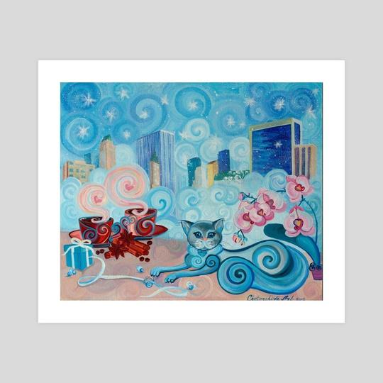 Christmas. Tiffany Color Breakfast by Chetverikova Oksana