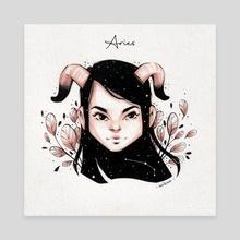 Aries - Canvas by Milena Mitkova