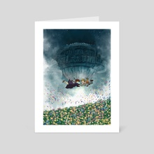 Laputa Castle in The Sky - Art Card by Deny Saputra