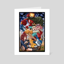 FLCL Fooly Cooly - Art Card by PokuriMio