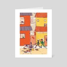 A walk - Art Card by Cam Estela