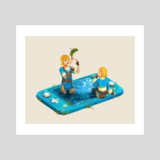 Zelda and Link by Isabel Li