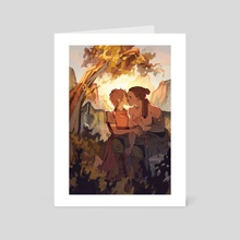 First Kiss - Art Card by Marta Milczarek
