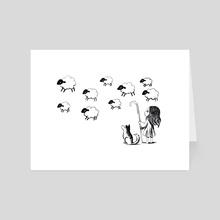 Shepherdess - Art Card by Indré Bankauskaité