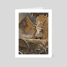 Snufkin - Sepia - Art Card by Ciaran Duffy