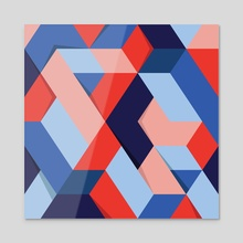 Shadow Geometry #1  - Acrylic by Andrew  Haan