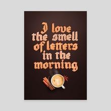 Tasty Letters - Canvas by Alex Timokhovsky