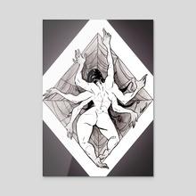 Arachne - Acrylic by Lucy Kyriakidou