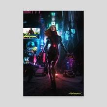 Cyberpunk - Black Widow - Canvas by Mizuri