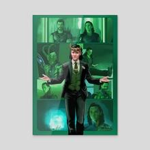 the Life and Times of Loki - Acrylic by Jake Bartok