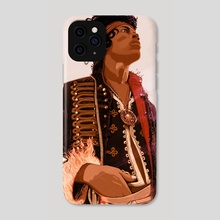 Jimi Fire 2 - Phone Case by Stephan Parylak
