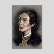 Anne Lister colorized portrait  - Canvas by Marlaina  Mortati