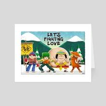 Let's Fighting Love - Art Card by Charlie Bink