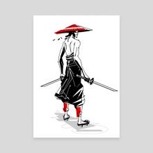 Samurai - Canvas by Nashaat Conde