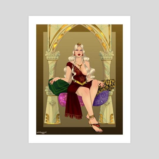 Daenerys in a Qartheen Gown by chillyravenart