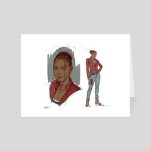 Claire Redfield (RE2 rendition) - Art Card by Joshua Swaby