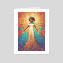 Lady of the Flowing Waters - Art Card by Harkalé Linaï