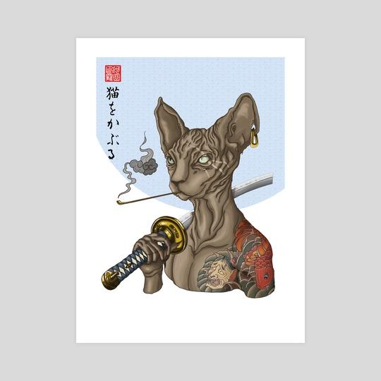 Yakuza cat - variant 3 by Arturo Galindo