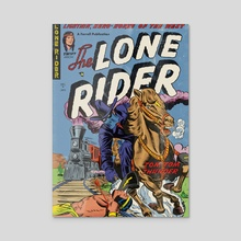 Lone Rider Edition #11 - Acrylic by Luc Playoust