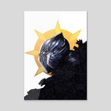 Black Panther - Acrylic by Kori Thompson