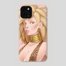 Albino Girl - Phone Case by Al-Barquq