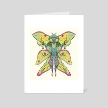Luna Moth Fire Mage - Art Card by Ibon