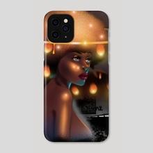 Afro goddess 2 - Phone Case by Emmanuel Johnson