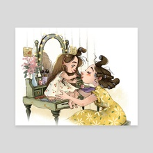 Mother & Daughter time! - Canvas by Fanny Wen