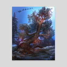 Festive Tree - Canvas by Sam Lee