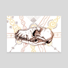 Psychopomp Series | Jackal Skull Study - Canvas by Michael Pisano
