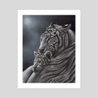 White Tiger - Art Print by Richard Macwee