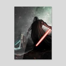 Han Solo and Darth Vader Fighting - Acrylic by Giordano Aita