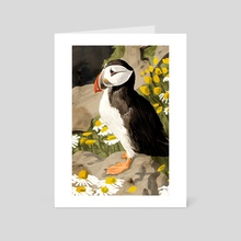 Puffin - Art Card by 83 Oranges