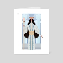 Turgon portrait - Art Card by Cassandra McLean