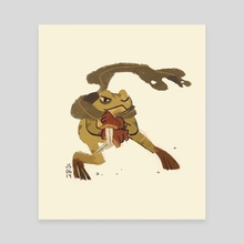 Animal Adventurers - Frog Rogue - Canvas by Jenn So