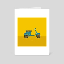 Vespa - Art Card by LeftHandedGraphic