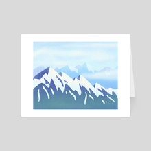 Snow on the Mountains - Art Card by Andrea Pereira