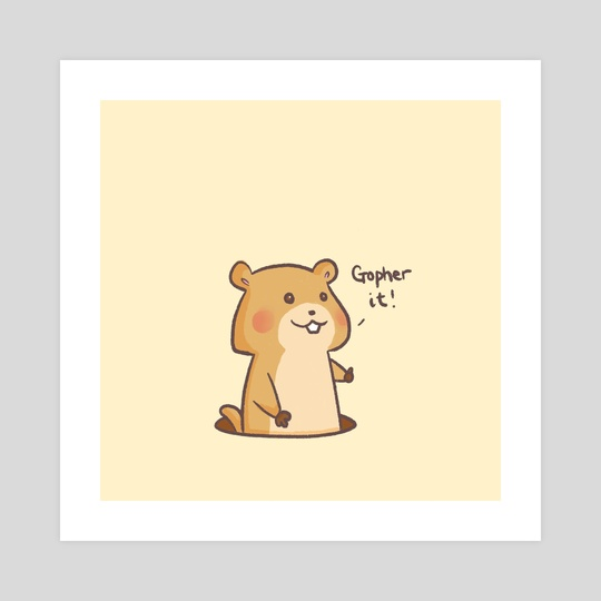 Gopher it by Miss Chibi