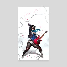 Guitar Player - Canvas by Murilo Miranda