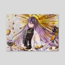 Jakurai Jinguji - Gold and White  - Acrylic by Shiroi Sayuri