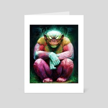 Chimpanzee - Art Card by Isidor Swande