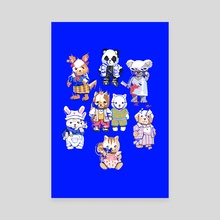 STREET CRITTERS - Canvas by yanna