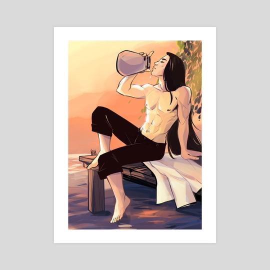 Sunset Wine by Yana Sever
