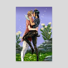 Faun Romance in Spring - Canvas by Lyle O'Mara